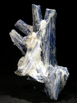 CYANITE OU  DISTHENE SUR QUARTZ